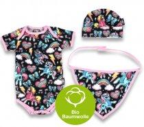 """Six Bunnies – Baby Geschenk Set """"UNICORNS"""", 3-teilig"""