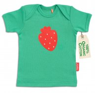 "tapete® Bio-Baumwoll Baby-T-Shirt ""Miss Strawberry"""