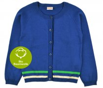 baba Retro-Strickjacke, blau
