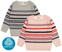 FUB AW18 Kids Extrafeinstrickpullover, Multi Striped Blouse (Merinowolle)