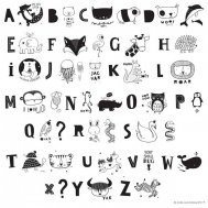 A little lovely company - Letter Set ABC black