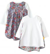 LolayLolo – Nachthemd/Kleid Grey Butterflies Langarm