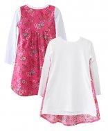 LolayLolo – Nachthemd/Kleid Pink Butterflies Langarm