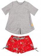 LolayLolo – Pyjama Red Butterflies Kurzarm
