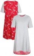 LolayLolo – Damen Nachthemd/Kleid Red Butterflies