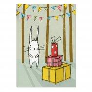 "noull - Postkarte ""Hase Geburtstag"""