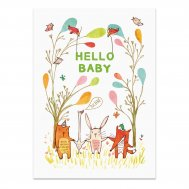 "noull - Postkarte Tiere ""Hello Baby"""