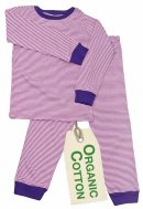 PWO Pyjama pink gestreift