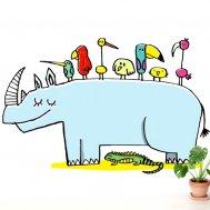 Chispum – Wandtattoo Rhino
