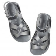 "Salt-Water ""Swimmer"" Kids Sandalen Größe 30-34, pewter"