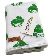 "ZEZUZULLA – Babydecke ""Green Hedgehog"" 85 x 85 cm"