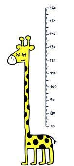 Chispum – Wandtattoo Messlatte Giraffe