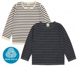 FUB AW18 Kids Extrafeinstrickpullover, Striped Blouse (Merinowolle)
