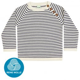 FUB AW17 Kids Strickpullover (Sweater), ecru/navy, (Merinowolle)