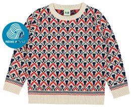 FUB AW18 Kids Strickpullover, Nordic Sweater (Merinowolle)