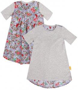 LolayLolo – Nachthemd/Kleid Grey Butterflies Kurzarm