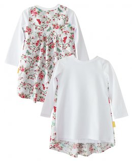 LolayLolo – Nachthemd/Kleid White Butterflies Langarm