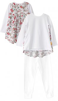 LolayLolo – Pyjama White Butterflies Langarm