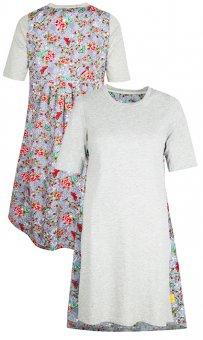 LolayLolo – Damen Nachthemd/Kleid Grey Butterflies