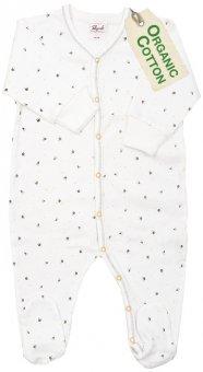 PWO Strampler/Schlafanzug grau Kronen