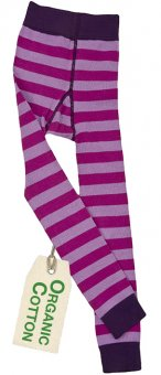 PWO Strickleggings pink/rosa gestreift