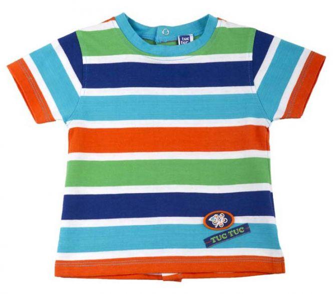 T shirt bunt gestreift miami kindermode online kaufen for Tapete bunt gestreift