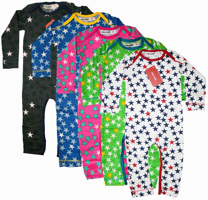 kik kid baby jersey strampler print star kindermode online kaufen im ranina shop. Black Bedroom Furniture Sets. Home Design Ideas