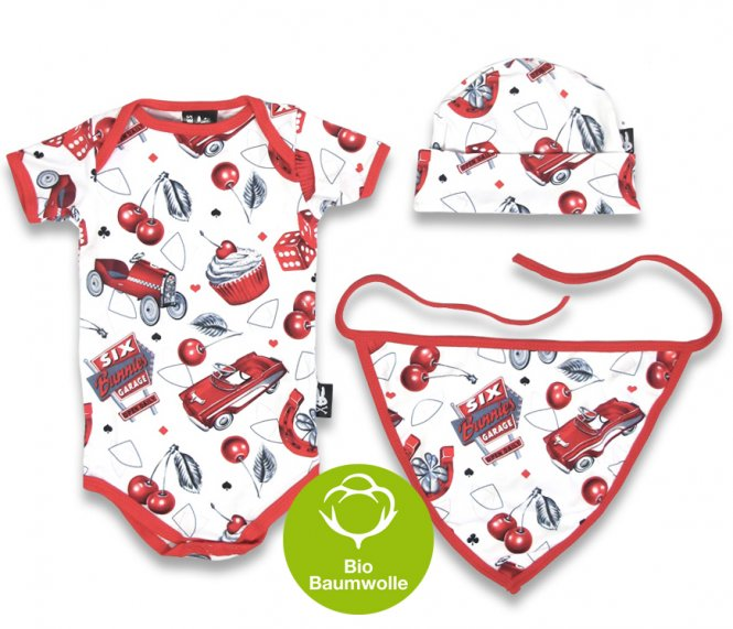 "Six Bunnies – Baby Geschenk Set ""HOT ROD"", 3-teilig"