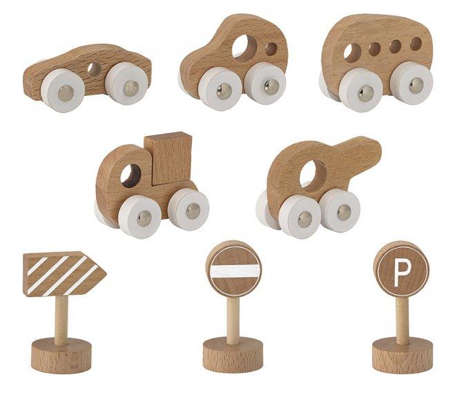 Bloomingville Mini Spielzeug Auto/Schilder 8er-Set
