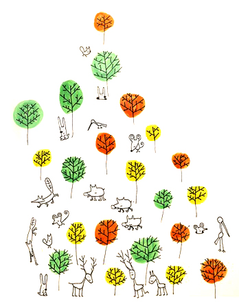 Chispum – Wandtattoo Waldtiere