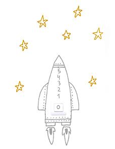 Chispum – Wandtattoo Lichtschalter Rakete