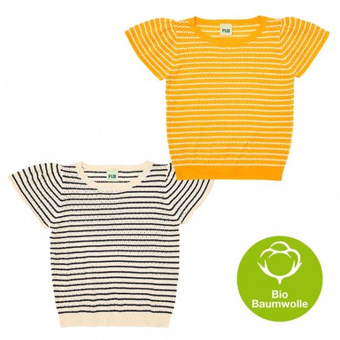 FUB SS19 Kids Mädchen T-Shirt, gestreift (Bio-Baumwolle)