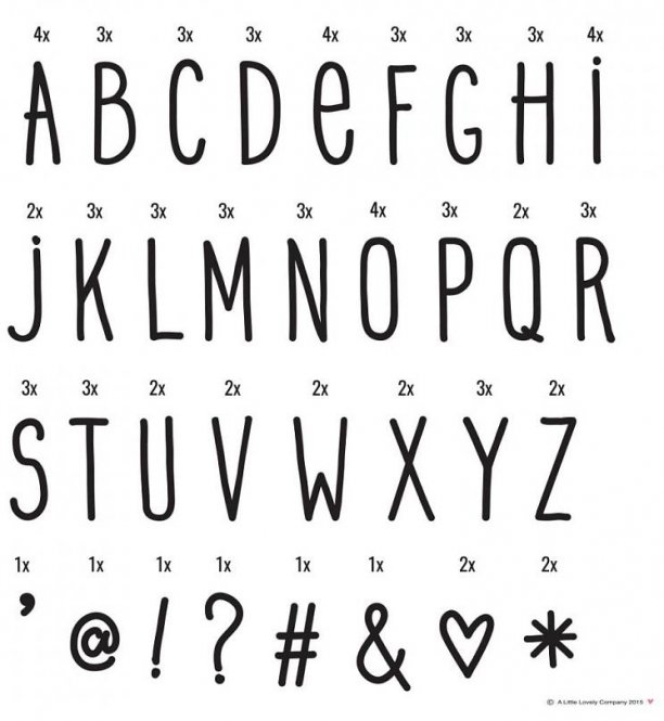 A little lovely company - Letter Set Handschrift