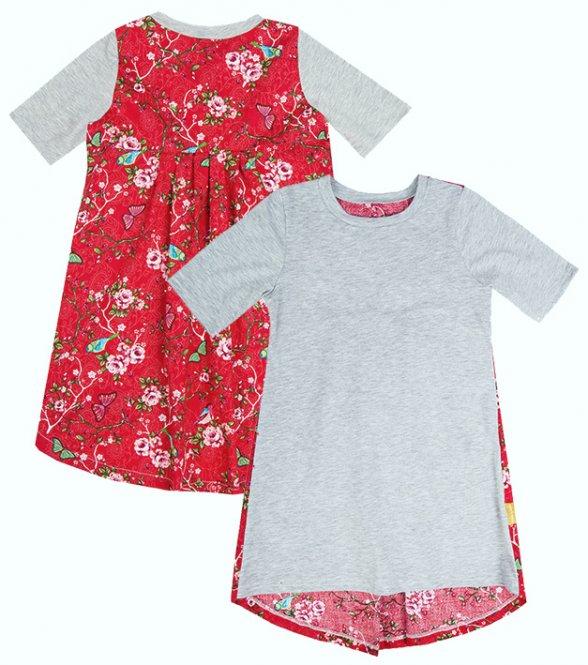 LolayLolo – Nachthemd/Kleid Red Butterflies Kurzarm