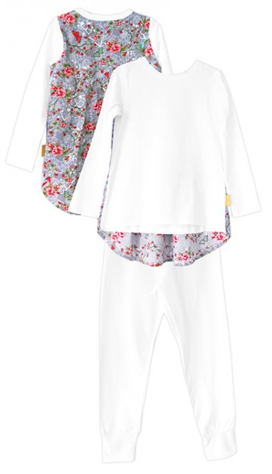 LolayLolo – Pyjama Grey Butterflies Langarm