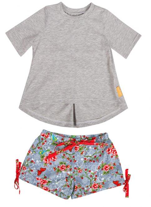 LolayLolo – Pyjama Grey Butterflies Kurzarm