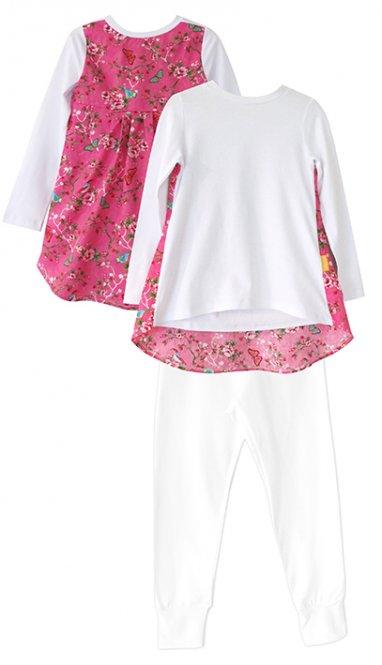 LolayLolo – Pyjama Pink Butterflies Langarm