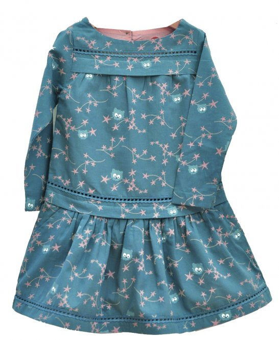 "La queue du chat – Kleid, ""Dream Flowers"", blue"