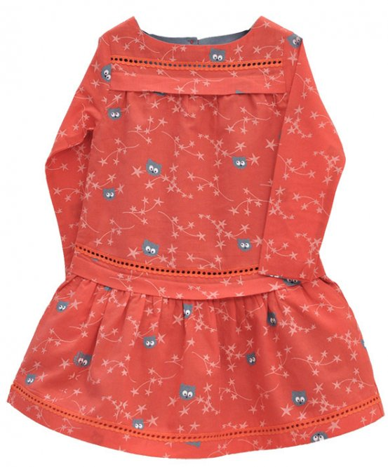 "La queue du chat – Kleid, ""Dream Flowers"", paprika"