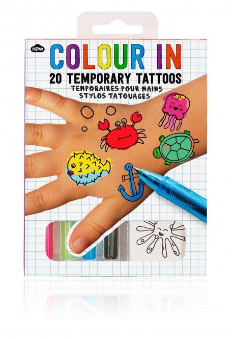 NPW – Tattoos zum Ausmalen, Meerestiere
