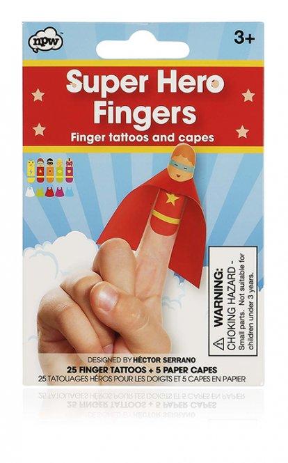 NPW – Finger Tattoos Superhelden