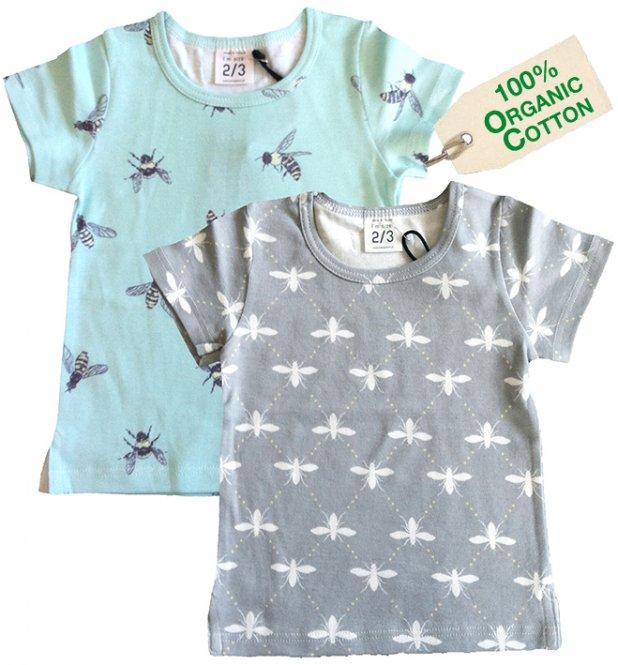 nosweet T-Shirt Biene mint/grau