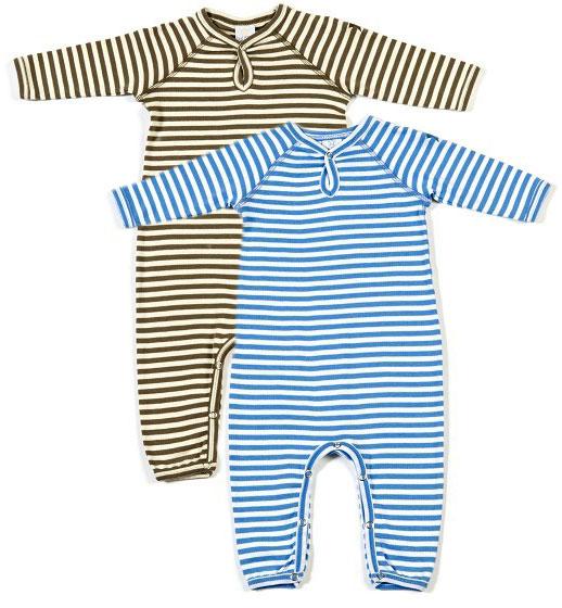 kinder bester Lieferant bezahlbarer Preis Smallstuff - Strampler/Schlafanzug gestreift ohne Füße ...
