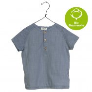 PLAY UP – Jersey T-Shirt, geknöpft blau