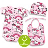 "Six Bunnies – Baby Geschenk Set ""RAINBOWS"", 3-teilig"