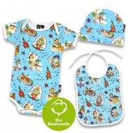 "Six Bunnies – Baby Geschenk Set ""ALOHA"", 3-teilig"