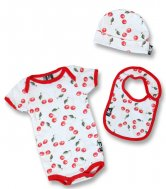 "Six Bunnies – Baby Geschenk Set ""CHERRIES"", 3-teilig"