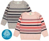 FUB AW18 Kids Extrafeinstrickpullover, Multi Striped Blouse (Merinowolle)
