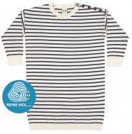 FUB AW17 Kids Feinstrickkleid (Oversize Dress), ecru/navy (Merinowolle)