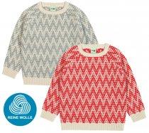 FUB AW18 Kids Strickpullover, Zigzag Sweater, (Merinowolle)